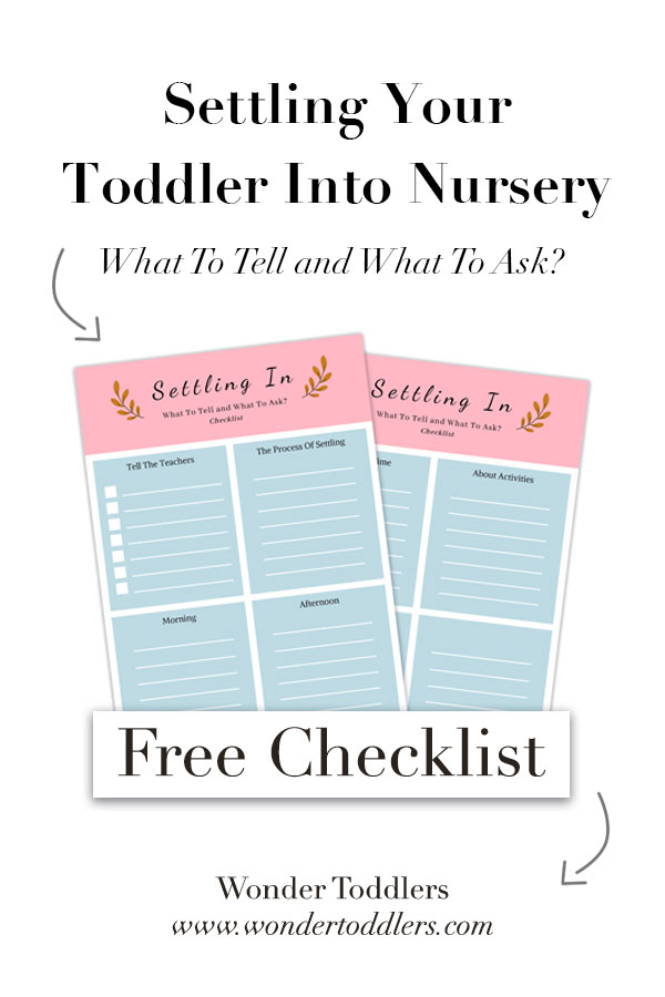Settling Your Toddler Into Nursery